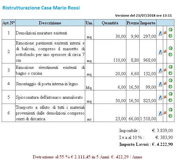 Preventivo lavori - Modulo per ristrutturazione casa ...