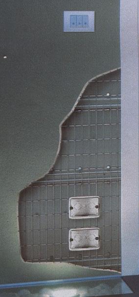 Il punto luce nel controtelaio della porta scorrevole - Costo porta a scrigno ...
