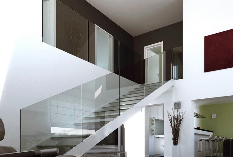 Scale trasparenti: alzate e pedate in plexiglass